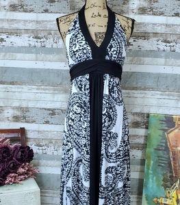 Bisou Bisou Halter Maxi Dress, Size 12P, EUC